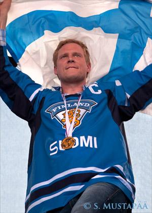 Mikko Koivu, captain of the Finnish Ice Hockey team.