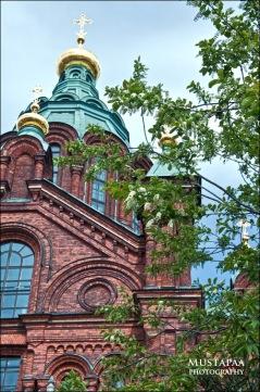 Uspenski Cathedral, Katajanokka peninsula, Helsinki. is the largest orthodox church in Northern and Western Europe.