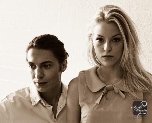 Photographing models @ Wäinö Aaltonen museum of Art, Sept 2012.Models: Joni and Verna, Modelboom. MUA Timo Laivo.