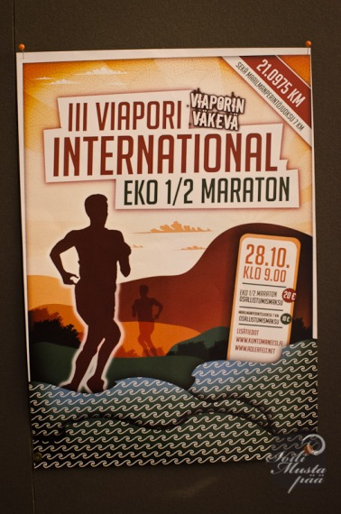 III Viapori International EKO 1/2 Maraton., poster. Photo Soili Mustapää