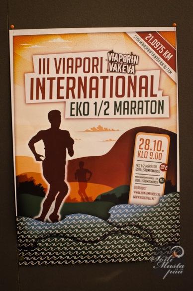 III Viapori International EKO 1/2 Maraton., poster. Photo Soili Mustapää