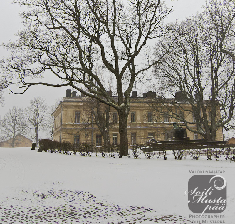 The First Snow Cover, the Great Courtyard, Sea Fortress of Suomenlinna, Helsinki.