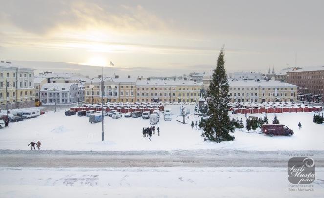Christmas time @ Helsinki Senate Square. Photo Soili Mustapää.