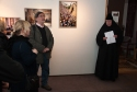 Mother Elisabeth opening the exhibitions
